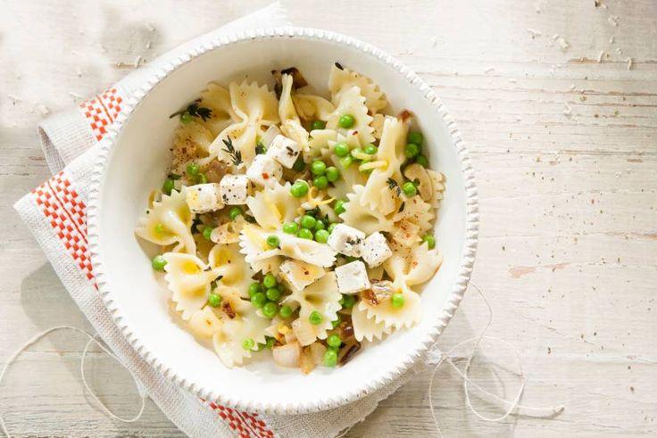 Kijk wat een lekker recept ik heb gevonden op Allerhande! Frisse pasta met erwten & kaas