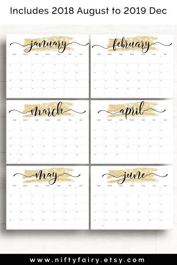 2019 Desk Calendar Monthly Planner 2019 A3 Desk Planner