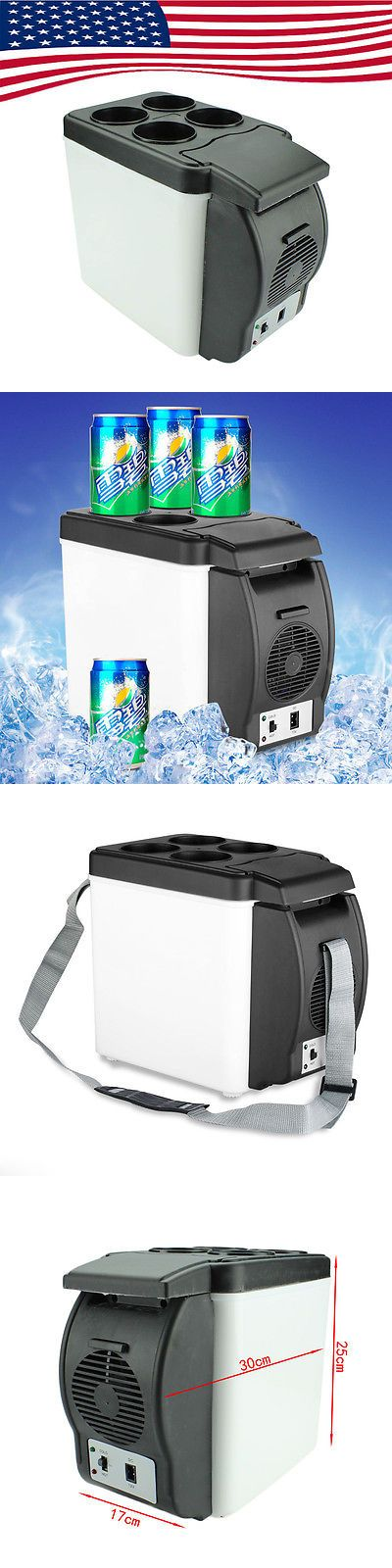 12-Volt Portable Appliances: 12V 6L Thermoelectric Portable Car Mini Refrigerator Cooler Warmer Travel Fridge BUY IT NOW ONLY: $49.99