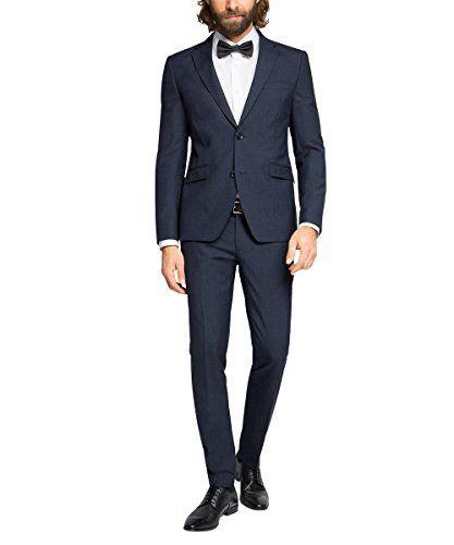 #ESPRIT #Collection #Herren #Anzug mit #Seitenschlitzen, #Kariert, #Gr. #44, #Blau #(NAVY #400) ESPRIT Collection Herren Anzug mit Seitenschlitzen, Kariert, Gr. 44, Blau (NAVY 400), , Dieser modern geschnittenen Anzug ist aus einer hochwertigen Schurwollmischung  gefertigt - die schmale Schnittführung wird durch sein schmales Revers und die zurückgenommen Pattentaschen noch einmal unterstrichen - Das Sakko hat Seitenschlitze und auch die hochwertige Innenverarbeitung unterstreicht das…