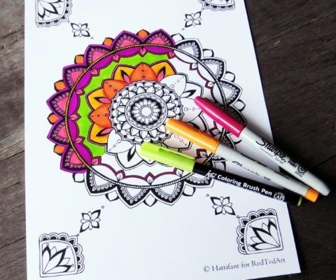 Mandala Colouring Pages for Grown Ups - simply gorgeous and free to download (1)