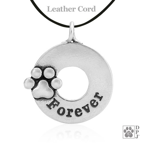 Forever pendant, paw print charm, Forever paw pendant, paw print Forever necklace charm, dog paw print tribute pendant, memorial jewelry, pet tribute jewelry, in loving memory, pet memorial, pet memorial gifts, pet sympathy keepsakes, pet remembrance