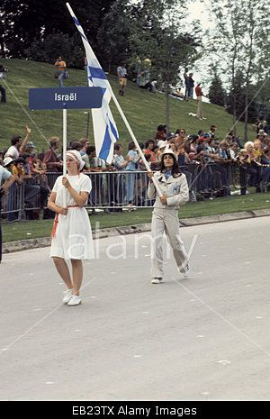 1976 Olympics in Montreal, Canada, parade of athletes at Opening Ceremonies, team from Israel Stock Photo