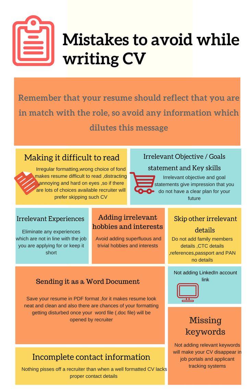 Mistakes to avoid while writing resume teaching resume