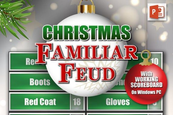 A Super Fun Powerpoint Based Christmas Family Feud Game This Is A Fully Functional Intera Christmas Family Feud Family Feud Christmas Questions Holiday Facts