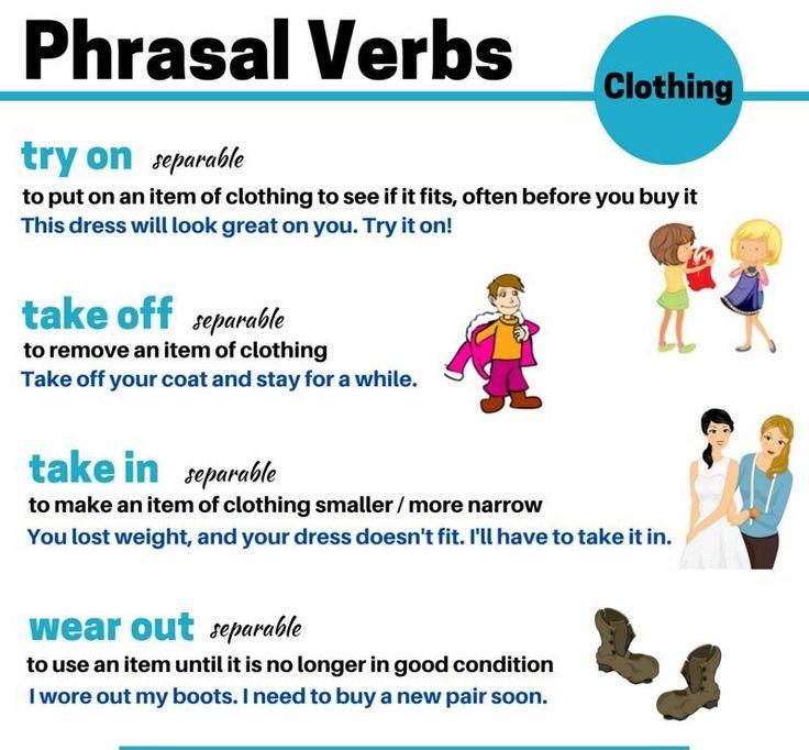 Clothing phrasal verbs #learnenglish
