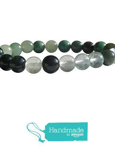 "ZENstore Heart Chakra Green Healing Bracelet Natural Gemstones size 0.3"" 8mm Nefrite Jade Green Fluorite Moose Agate Aventurine Prasem Love Compassion Happiness from ZENstore https://www.amazon.com/dp/B071WRSCYY/ref=hnd_sw_r_pi_dp_uarozbSDY0X60 #handmadeatamazon  #Zenstore #chakra #gemstone #jewellery #fashion"