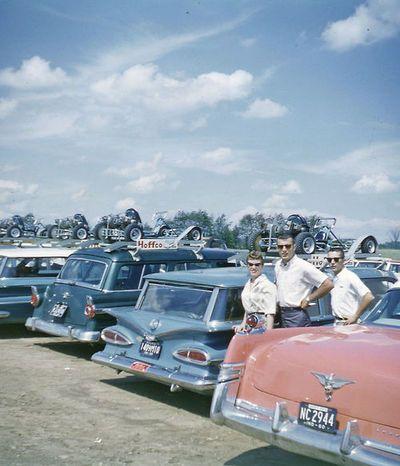 go kart racing  c.1960