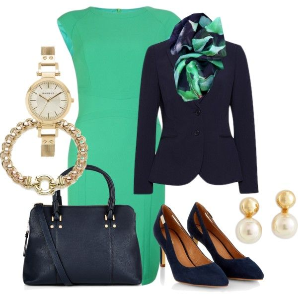 For Work #264 by annabouttown on Polyvore featuring Monsoon, Majorica and Good & Co