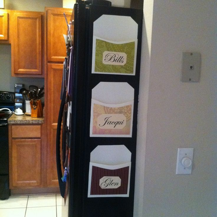 DIY Magnetic Mail Organizers.   Home Things   Pinterest