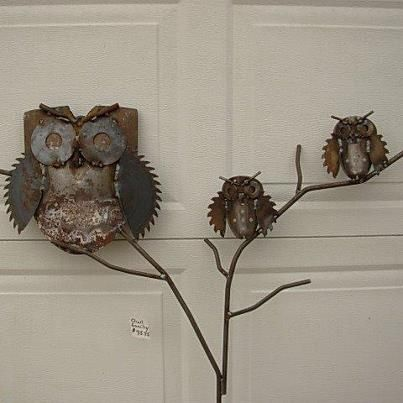 Owl Family Metal Yard Garden Art at Gold'n Country Gifts llc, wi: