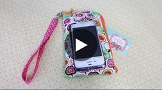 Bolsinha para celular com o visor transparente passo a passo