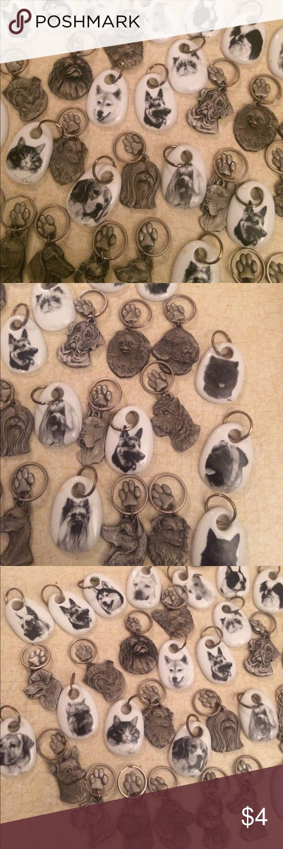 Dog & Cat Key-Chains!!! Add a dog or cat key chain for $4 each to any bundle!!! I have soooo many different kinds. Chihuahua- Pit Bull - Boxer - Dachshund - Boston Terrier - Doberman Pinscher - Shepherd - Siberian Husky - Lhasa Apso - Newfoundland - Pekingese - Papillon - Poodle - Mastiff - Pomeranian - Bichon Frise - Cairn Terrier - Great Dane - German Sheppard - Greyhound Persian Cat - Labrador - Basset Hound  & so many more! Just ask-Comment  & I will make listing & u can bundle w order…