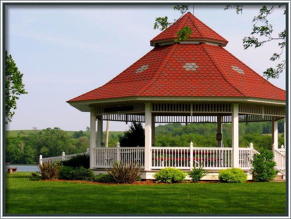 Wisconsin Poster featuring the photograph The Gazebo On The Lake by Kay Novy