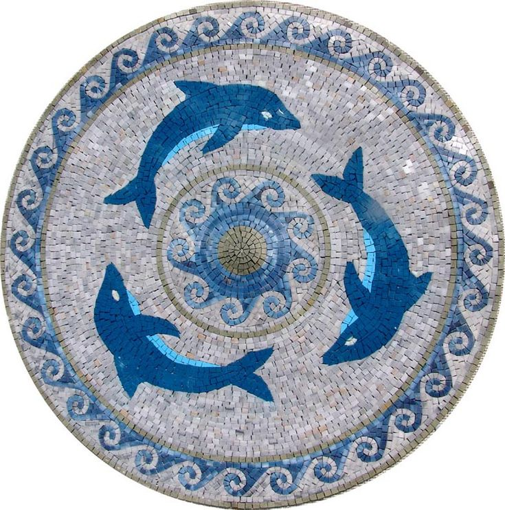 MD181 Marble Mosaic Medallion Tile