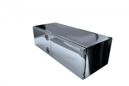 18 x 24 x 48 Stainless Steel Underbody Tool Box w/Double Doors image 1