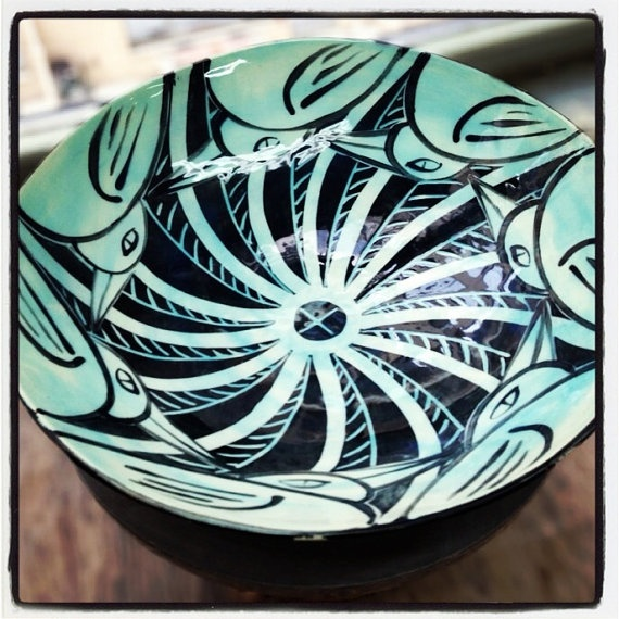 Large disc bird bowl perfect for entertaining and by Mayware, $75.00