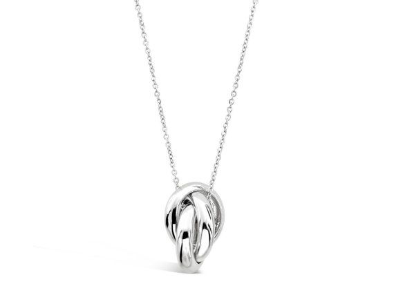Interlocking Circles Necklace Pendant  Three by Siroccadiamond