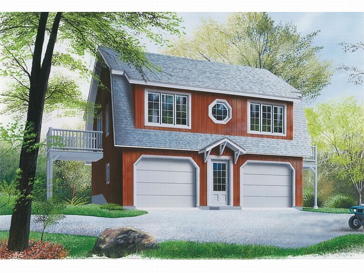 34 best Garage Plans with Gambrel Roofs images on Pinterest | Car ...