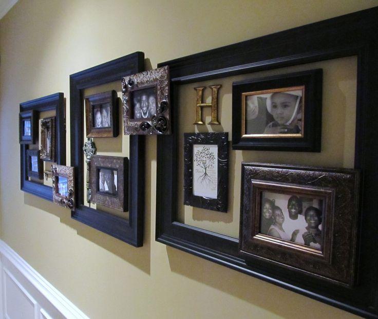 frame on frame. First floor hallwayCrafts Ideas, Decor Ideas, Beautiful Frames, House Ideas, Photos Collage, Gallery Wall, Frames Ideas, Pictures Frames, Crafty Ideas