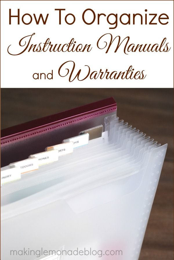 Must-Read Tip: How to Organize Product Manuals and Warranties