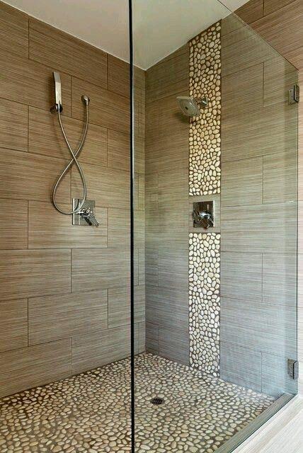 Die besten 25+ Kiesel Fliesen Dusche Ideen auf Pinterest - kieselsteine im bad
