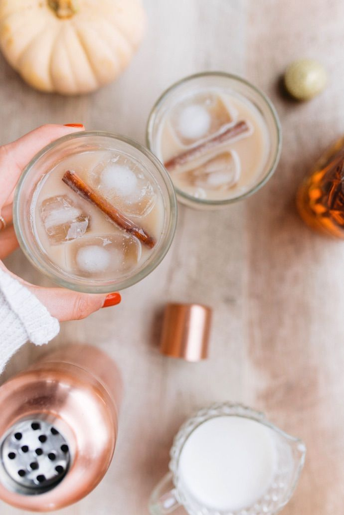 A seasonal Chai Tea Cocktail — perfect for the upcoming holidays.