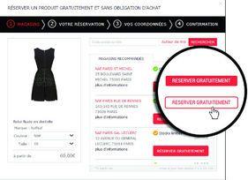 La plate-forme SoCloz permet de réserver un article, sans obligation d'achat. http://www.lsa-conso.fr/socloz-un-pont-entre-commerce-traditionnel-et-e-commerce,203032