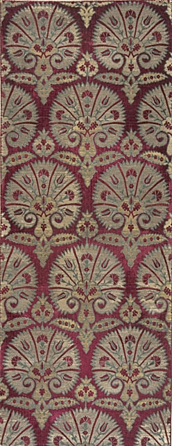 Textile Length with Design of Stylized Carnations, second half of 16th century, Turkey