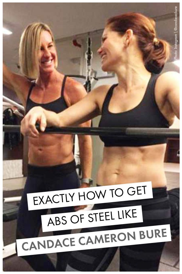 Candace Cameron Bure is showing off her flawless tone abs, and just how she got them. Follow along with her abs of steel workouts, to slim down. Womanista.com