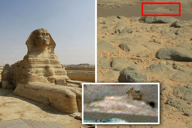 Sphinx spotted on Mars 'proof of long-lost alien civilisation'