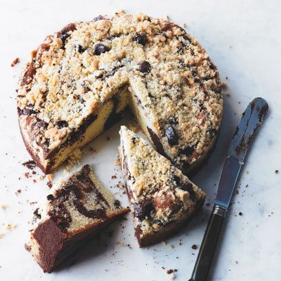 Rachel Allen's Chocolate Crumble Marble Cake recipe. For the full recipe and more click the picture or visit RedOnline.co.uk