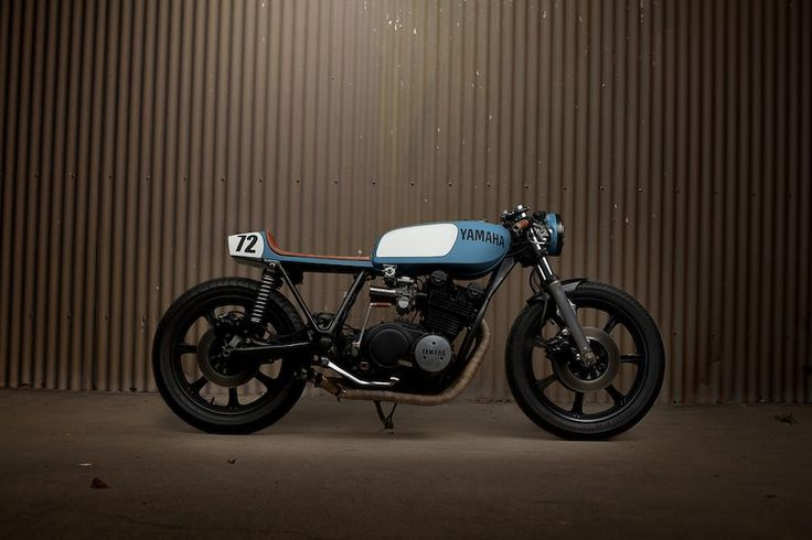 Really dig the color of this bike. Yamaha XS750 Cafe Racer 2 Yamaha XS750 Cafe Racer by Ugly Motorbikes