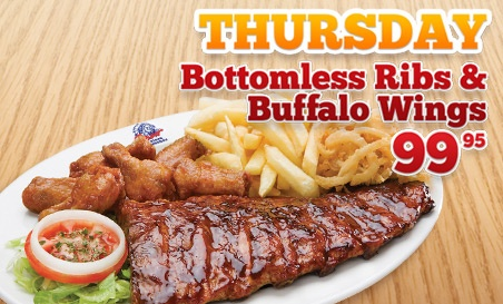#Dinner idea. Ribs & Buffalo wings are always a treat for those hungry tummies. Spur steak ranches is where you can get this special discounted meal. We are all for the family experience, so bring along the whole family to one of our steak restaurants and enjoy.