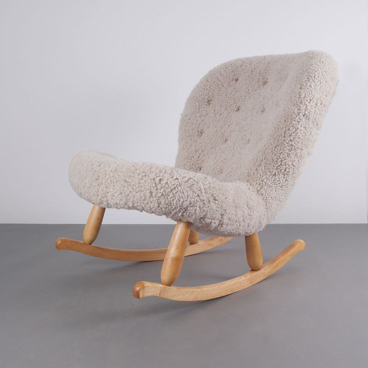 Philip Arctander; Birch U0027Clamu0027 Rocking Chair For Nordisk Staal U0026 Möbel  Central,