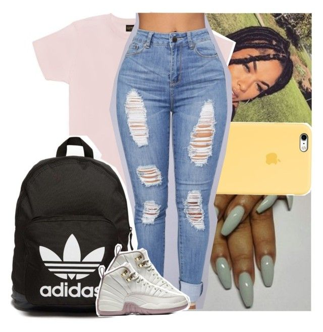 """""""This a mf """"502"""" come up"""" by theyknowtyy ❤ liked on Polyvore featuring October's Very Own and adidas Originals"""
