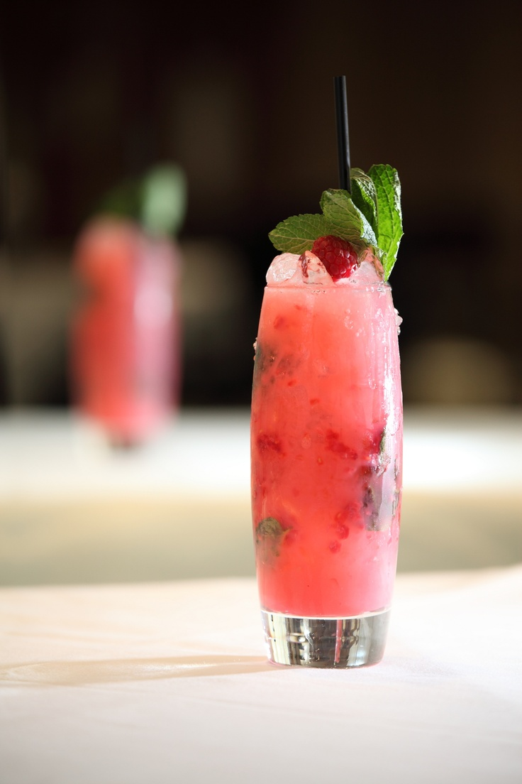 Fresh Scottish raspberries mix with a dash of raspberry liqueur and are topped with North Bridge Brasserie's own house bubbly in the Regal Mojito.