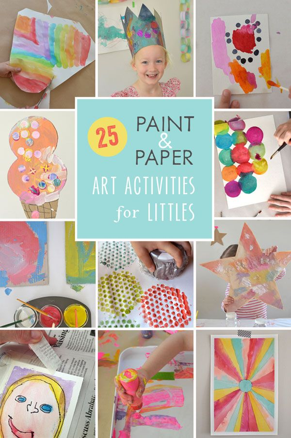 25 gorgeous and EASY art projects for little ones that use just paint and paper. It doesn't get any easier!