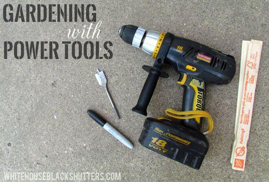 gardening with power tools, gardening, tools