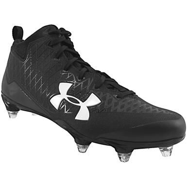 47ceec5cf Under Armour Nitro Select Mid D Football Cleats - Mens Black White ...