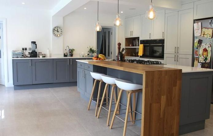 Eat On Kitchen Island Could You Add A Long Counter Like This To An