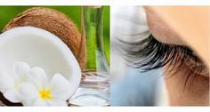 Traitement naturel avec de l'huile de noix de coco pour épaissir les cils