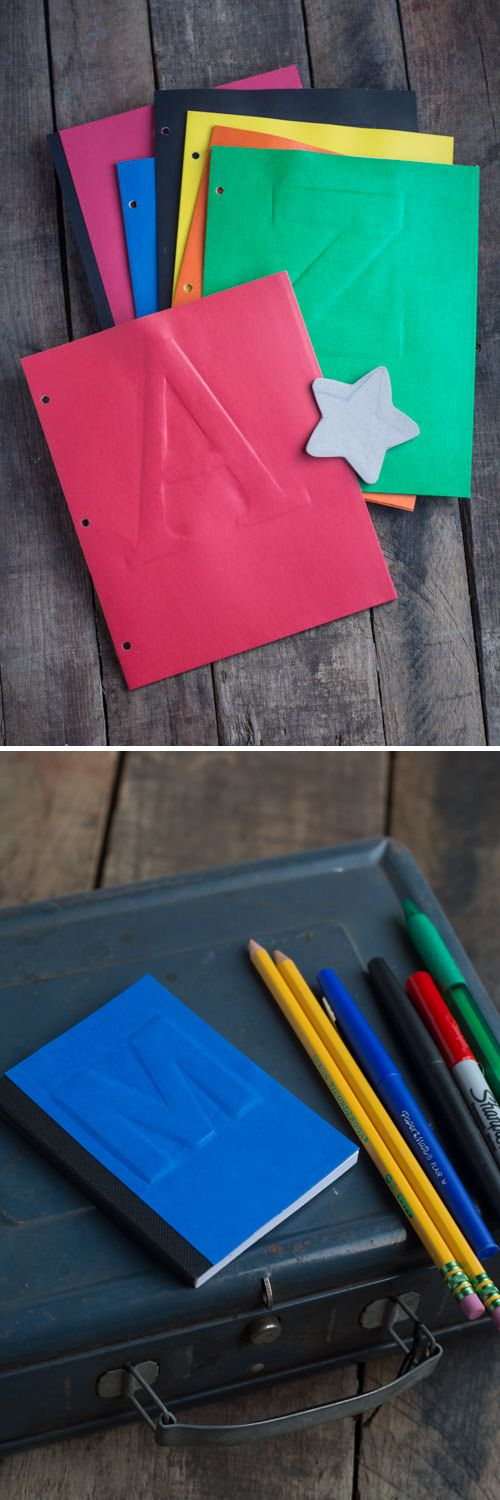 DIY Cereal Box Embossing - Customize all your school supplies!     Design Mom