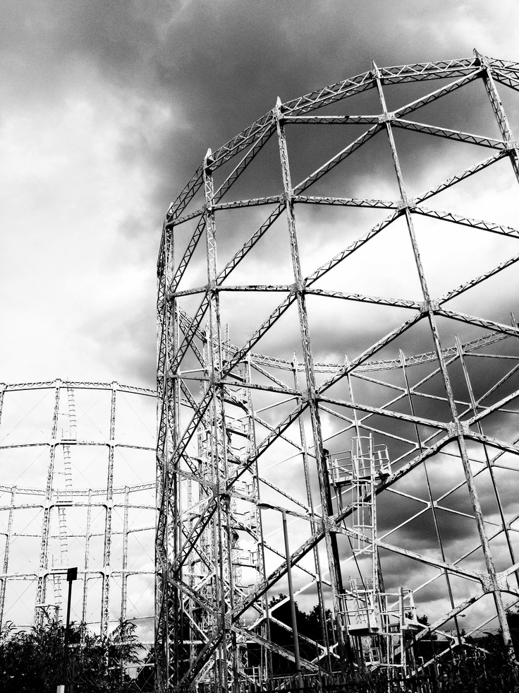 Gas storage towers in north London