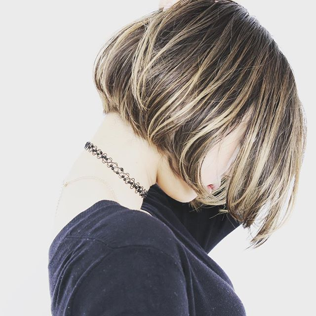 Really cute bob. I actually had my bf's hair cut like this for quite a while. I miss it sometimes.