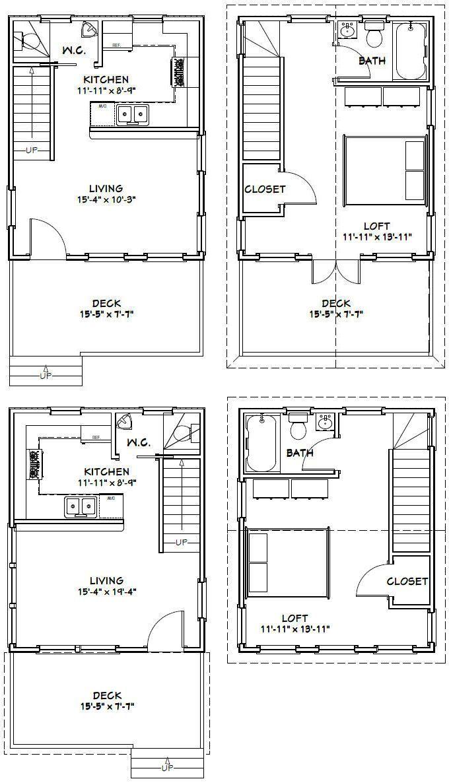 16x20 Houses Pdf Floor Plans 569 Sq Ft By Excellentfloorplans Tinyhouseentryway Plany Nebolshih Domov Nebolshie Domiki Plan Doma