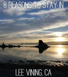 The sunrise at South Tufa is enough reason to stay the night in Lee Vining near Mono Lake in California.