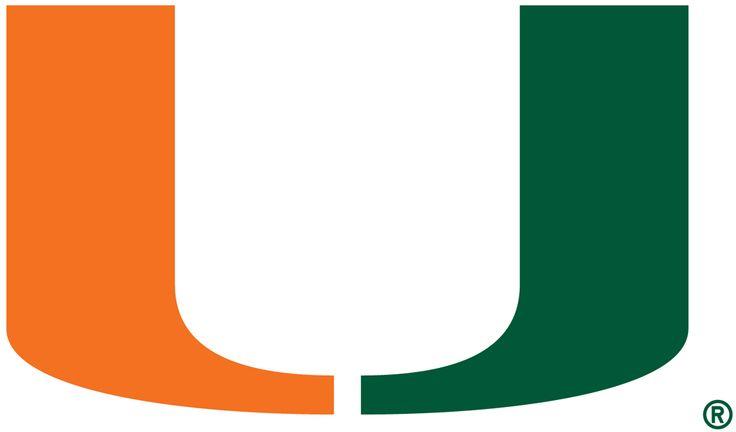 Miami Hurricanes Primary Logo (1972) - Green and Orange U
