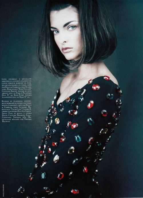 Corps De Pierres, Vogue France, 1990Photographer: Paolo RoversiModel: Linda Evangelista