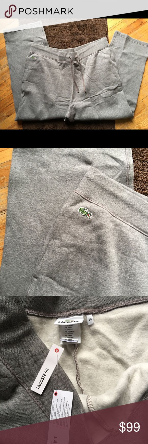 MENS LACOSTE $135 2XL GRAY SWEAT PANTS NWT Jogging pants Lacoste Pants Sweatpants & Joggers